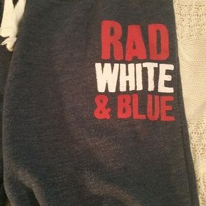 RAD, WHITE & BLUE Youth Girls Sweatpants - Med